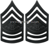 Army black metal chevrons sergeant major of the army