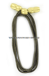army campaign hat cord officer gold and black