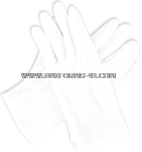 USMC GLOVES WHITE COTTON PULL ON GRIPPER