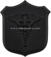 us navy and marine corps collar device black metal shield with caduceus