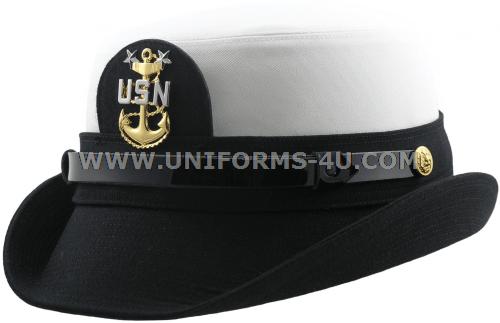 cf4a2c0e2751e8 ... france u.s. navy master cpo female white combination cap 9bec3 bf85f