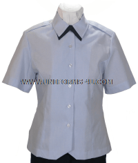 USAF WOMEN'S SHORT-SLEEVED BLUE OVERBLOUSE