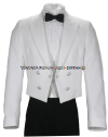 U.S. COAST GUARD AUXILIARY MEN'S DINNER DRESS WHITE JACKET