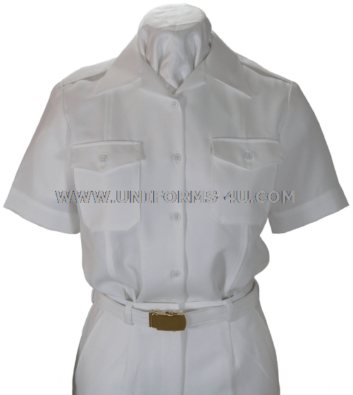 ... Navy Female White CNT Shirt can be worn with the summer white uniform