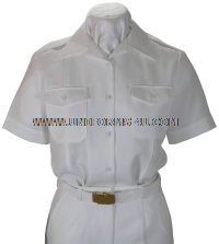 us navy female white cnt shirt