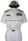 U.S. NAVY FEMALE OFFICER SUMMER WHITE UNIFORM