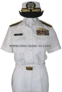 us navy female summer Officer white uniform