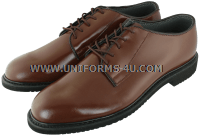 U.S. NAVY BROWN LEATHER OXFORD SHOES