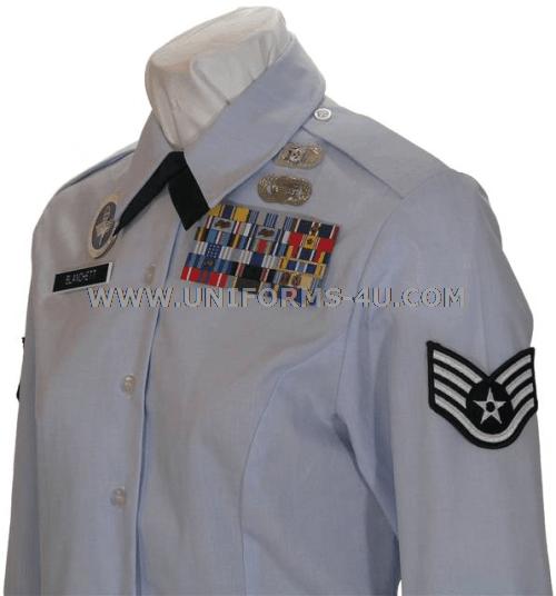 USAF FEMALE ENLISTED BLOUSE UNIFORM