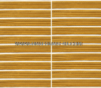 US ARMY SERVICE STRIPE GOLD ON WHITE SET OF 9 STRIPES