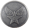 us air force oxidized button