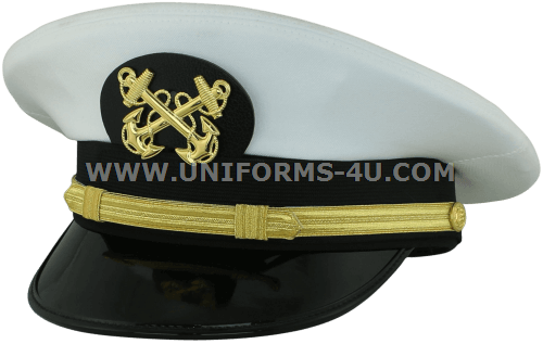 U S  NAVY WARRANT OFFICER 1 WHITE COMBINATION CAP