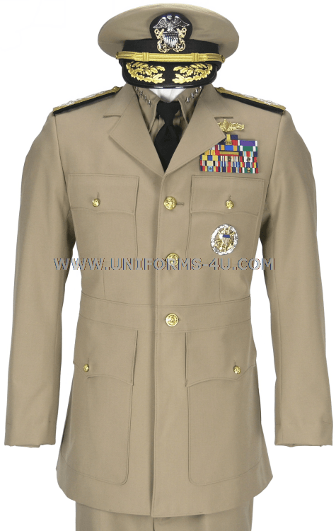 The US Navy Service Dress Khaki uniform has been been approved by ...