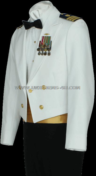 Navy uniforms dinner dress white