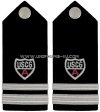 USCG Auxiliary hard shoulder boards DIVISION Staff Officer (SO)