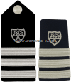 COAST GUARD AUXILIARY DIVISION COMMANDER HARD/ENHANCED SHOULDER BOARDS