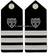USCG AUXILIARY HARD SHOULDER BOARDS DIVISION COMMANDER (DCDR)