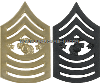 USMC SERGEANT MAJOR OF THE MARINE CORPS COLLAR CHEVRONS