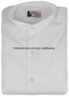 MANDARIN COLLAR WHITE DRESS SHIRT