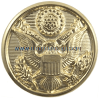 us army Hamilton gold dress button