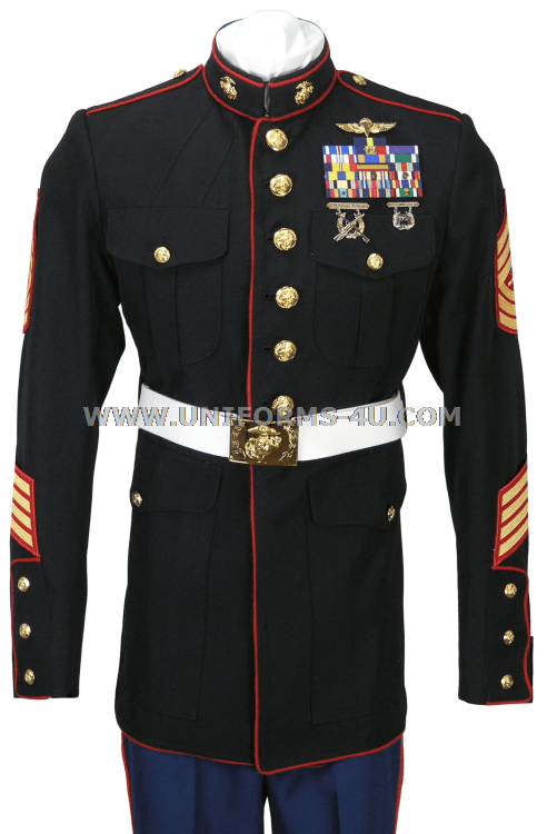 Ranks In Marine >> USMC ENLISTED DRESS BLUE UNIFORM
