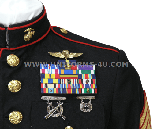 Marine corps dress mess medals placement