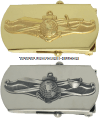 US navy officer information dominance belt buckle