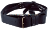 US navy sword belt black leather for new navy cpo cutlass