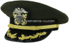 U.S. NAVY CAPTAIN / COMMANDER AVIATION GREEN COMBINATION CAP