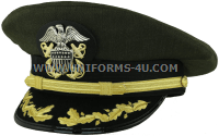 us navy captain-commander aviation green hat