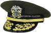 U.S. NAVY ADMIRAL AVIATION GREEN COMBINATION CAP (O-7 TO O-10)