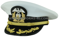 us merchant marine captain - commander white hat