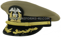 us merchant marine captain - commander khaki hat
