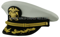 us public health service captain - commander white hat