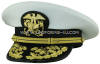 U.S. PUBLIC HEALTH SERVICE MALE FLAG OFFICER COMBINATION CAP