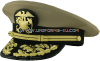 U.S. PUBLIC HEALTH SERVICE FLAG OFFICER KHAKI COMBINATION CAP