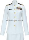 US NAVY FEMALE OFFICER SERVICE DRESS WHITE UNIFORM