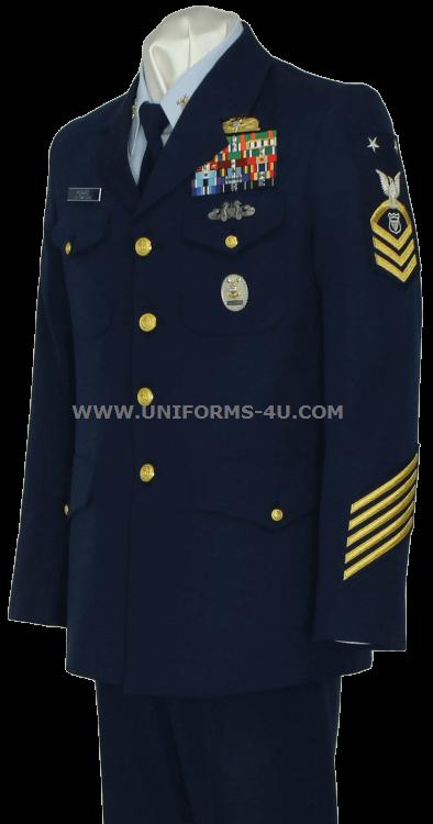 US COAST GUARD SERVICE DRESS BLUE (SDB) ENLISTED / CPO UNIFORM