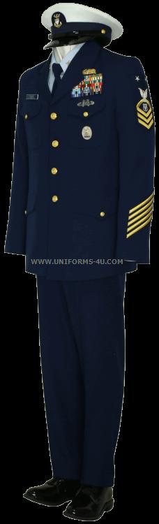 Coast guard service dress blue coat
