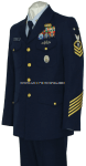 U.S. COAST GUARD MALE CPO / ENLISTED SERVICE DRESS BLUE UNIFORM