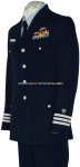 U.S. COAST GUARD MEN'S AUXILIARY SERVICE DRESS BLUE UNIFORM