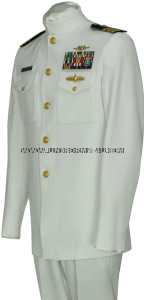 US COAST GUARD SERVICE DRESS WHITE OFFICER UNIFORM