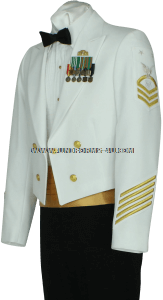 us coast guard enlisted / cpo dinner dress white (DDW) jacket uniform