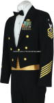 us coast guard enlisted / cpo dinner dress blue (ddb) jacket uniform