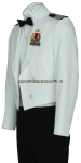 U.S. COAST GUARD AUXILIARY MEN'S DINNER DRESS WHITE JACKET UNIFORM