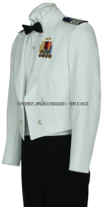 us coast guard auxiliary dinner dress white (ddw) jacket uniform