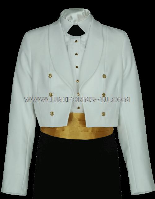 Usphs Female Dinner Dress White Jacket