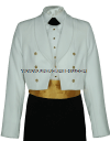 usphs female dinner dress white jacket