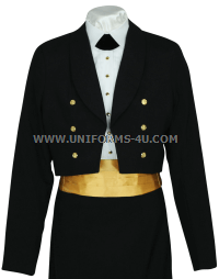 usphs female dinner dress blue jacket