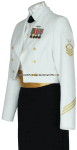 us navy female enlisted / cpo dinner dress white uniform